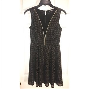 Gorgeous Black With Gold Dress by Express